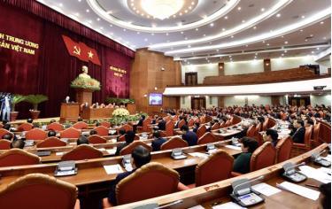 Tổng Bí thư, Chủ tịch nước phát biểu khai mạc hội nghị.