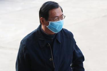 Ông Vũ Huy Hoàng tại toà án trong sáng 18/1.