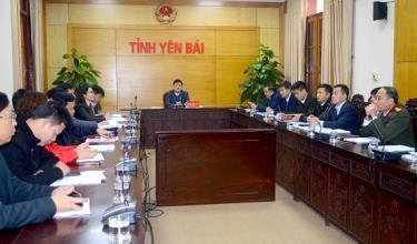 Các đại biểu dự Hội nghị tại điểm cầu tỉnh Yên Bái