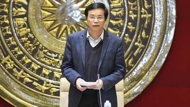 Tổng Thư ký Quốc hội, Chủ nhiệm Văn phòng Quốc hội, Chánh Văn phòng Hội đồng bầu cử quốc gia Nguyễn Hạnh Phúc chủ trì cuộc họp