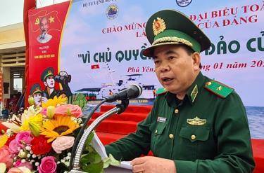 Thiếu tướng Phùng Quốc Tuấn, Uỷ viên Ban Thường vụ, Phó Chính uỷ Bộ đội Biên phòng phát biểu tại Chương trình.
