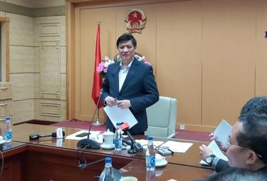 Bộ trưởng Y tế Nguyễn Thanh Long phát biểu tại Hội nghị.