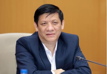 Bộ trưởng Bộ Y tế Nguyễn Thanh Long phát biểu tại phiên họp trực tuyến sáng 20-1
