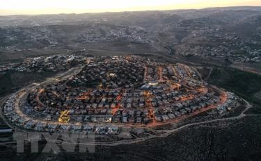 Khu định cư Tekoa của Israel tại khu Bờ Tây.