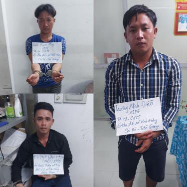 Cả ba kẻ cướp bị bắt khi chuẩn bị đi