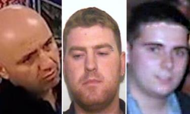 (Từ trái qua phải): Gheorghe Nica, Ronan Hughes và Eamonn Harrison. (Nguồn: PA)