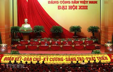 Đoàn Chủ tịch phiên họp trù bị Đại hội XIII của Đảng.