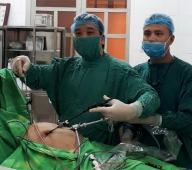 Phẫu thuật nội soi ruột thừa đã trở thành thường quy ở Trung tâm Y tế Trấn Yên.