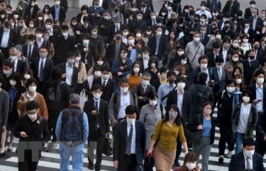 Người dân tại thủ đô Tokyo của Nhật Bản.