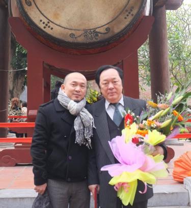 Nhạc sĩ Quốc Trung và NSND Trung Kiên.