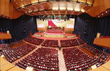 Toàn cảnh Đại hội XIII của Đảng ngày 28/1.