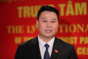 Anh Hà Đức Minh, Bí thư Tỉnh đoàn Lào Cai.