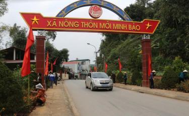 Tuyến đường kiểu mẫu của xã Minh Bảo hôm nay.