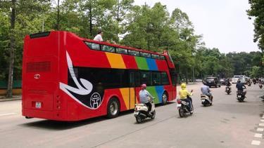 Các tuyến bus 2 tầng sẽ đưa đón các phóng viên tác nghiệp tại sự kiện. Ảnh minh họa.