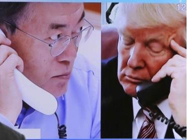 Tổng thống Mỹ Trump gọi điện cho Tổng thống Hàn Quốc Moon trước thượng đỉnh Mỹ-Triều.