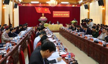 Hội nghị Ban Chấp hành Đảng bộ tỉnh Yên Bái lần thứ 21 (mở rộng) diễn ra tháng 12/2018.