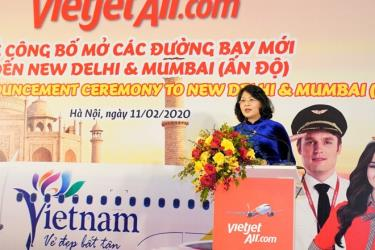 Phó chủ tịch nước Đặng Thị Ngọc Thịnh phát biểu tại lễ công bố