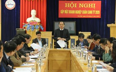 Đồng chí Tạ Văn Long – Phó Chủ tịch Thường trực UBND tỉnh phát biểu chỉ đạo hội nghị.