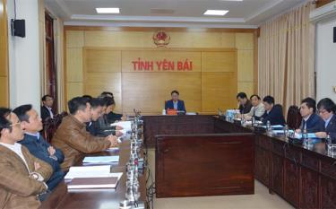 Các đại biểu dự Hội nghị tại điểm cầu Yên Bái