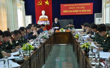 Đồng chí Hoàng Xuân Nguyên – Trưởng ban Dân vận Tỉnh ủy phát biểu chỉ đạo tại hội nghị.