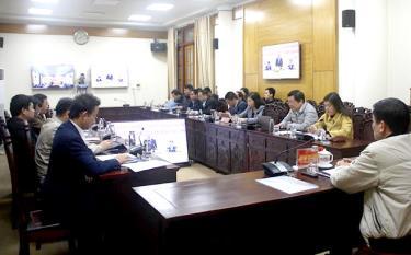 Ban Chỉ đạo xây dựng chính quyền điện tử tỉnh dự Hội nghị trực tuyến xây dựng chính quyền điện tử.