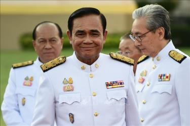 Thủ tướng Thái Lan Prayut Chan-O-Cha (giữa) sau lễ tuyên thệ nhậm chức của các thành viên nội các mới tại Bangkok ngày 16/7/2019.