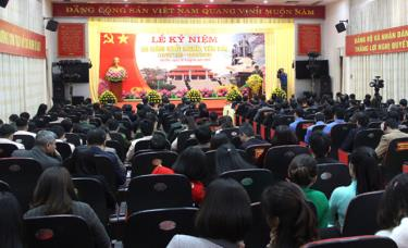 Overview of the ceremony commemorating the 90th anniversary of Yen Bai resistance.