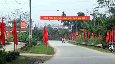 Việt Thành chào đón ngày đại hội điểm Đảng bộ xã