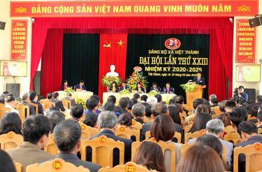 Đại hội điểm đảng bộ cấp cơ sở Đảng bộ xã Việt Thành, huyện Trấn Yên diẽn ra ngày 18-19/2/2020.