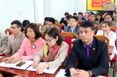 Các báo cáo viên tham dự Hội nghị.