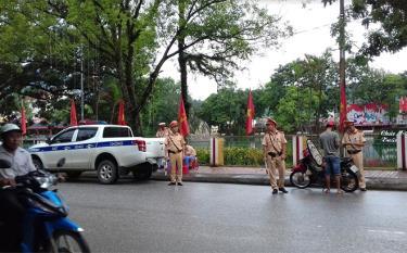Cảnh sát giao thông là lực lượng chủ lực và nòng cốt trong công tác đảm bảo trật tự an toàn giao thông.
