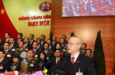 Đồng chí Nguyễn Phú Trọng, Tổng Bí thư Ban Châp hành Trung ương khóa XIII, Chủ tịch nước CHXHCN Việt Nam đọc Diễn văn bế mạc Đại hội.