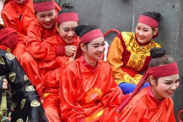 Lễ hội Gò Đống Đa là một trong những lễ hội lớn của Hà Nội, diễn ra vào mùng 5 Tết Nguyên đán hàng năm. Ảnh: Hoàng Hà.