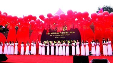 Ngày thơ Việt Nam là sự kiện thường niên diễn ra tại Văn Miếu-Quốc Tử Giám, thu hút sự quan tâm của những người yêu thơ.