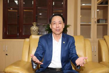 Phó Tổng Thanh tra Chính phủ Trần Ngọc Liêm trả lời phỏng vấn phóng viên báo chí.