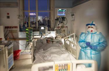 Điều trị cho bệnh nhân nhiễm COVID-19 tại bệnh viện ở Prague, Cộng hòa Séc, ngày 7/1/2021.