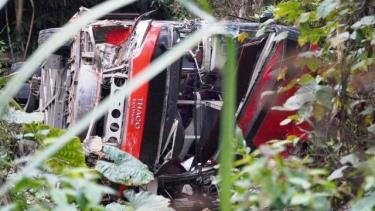 Xe khách rơi xuống vực tại huyện Na Hang, tỉnh Tuyên Quang