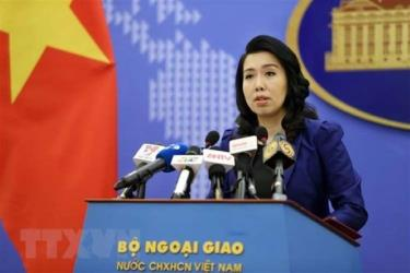 Spokesperson of the Ministry of Foreign Affairs Le Thi Thu Hang.