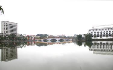 A corner of Yen Hoa Park in Yen Bai city