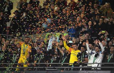 Aguero là người mở đầu cho chiến thắng của Man City.