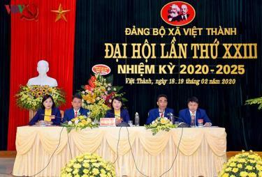 Đại hội điểm xã Việt Thành, huyện Trấn Yên, tỉnh Yên Bái.