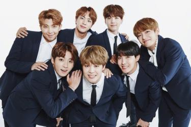 Nhóm nhạc nổi tiếng Hàn Quốc BTS.