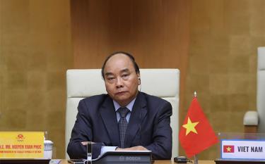 Thủ tướng Nguyễn Xuân Phúc tham dự Hội nghị thượng đỉnh trực tuyến G20 về ứng phó dịch COVID-19.