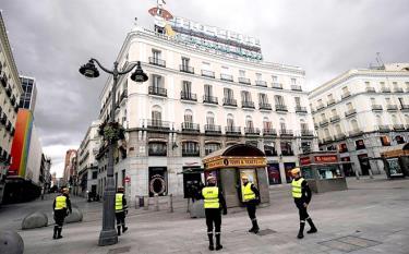 Trên một con phố ở Thủ đô Madrid của Tây Ban Nha.