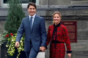 Thủ tướng Canada Justin Trudeau và phu nhân Sophie (ngày 11/9/2019).