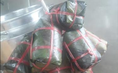 Sản phẩm giò lụa của Cơ sở sản xuất thực phẩm Minh Lan.