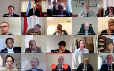Hội đồng Bảo an họp trực tuyến về Syria.