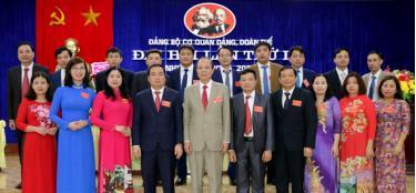Đoàn đại biểu đi dự Đại hội đại biểu Đảng bộ huyện Yên Bình khóa XXIII, nhiệm kỳ 2020 - 2025 ra mắt Đại hội.