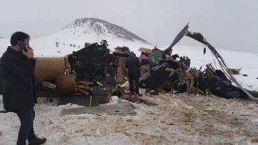 Hiện trường vụ rơi trực thăng Thổ Nhĩ Kỳ ngày 4-3.