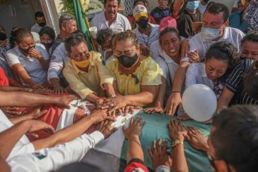 Đám tang một thị trưởng bị sát hại ở bang Veracruz vào tháng 11/2020.